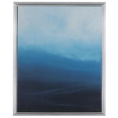 "Sarah Brown Giclée ""Blue Hills,"" 21st Century"