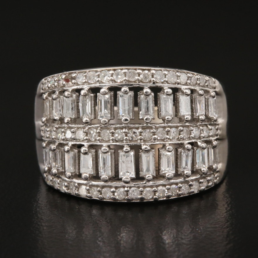 14K 1.22 CTW Diamond Openwork Ring