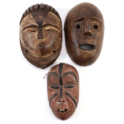 Central African Style Wood Masks