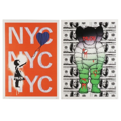 Death NYC Pop Art Graphic Prints Featuring Banksy and XX Variations, 2020