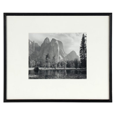 "Ansel Adams Reprint Silver Gelatin Photograph ""Cathedral Spires and Rocks"""