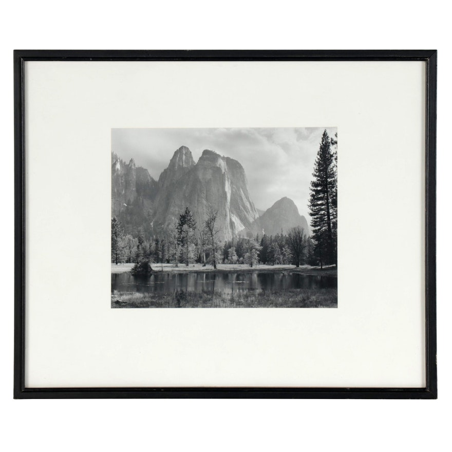 """Ansel Adams Reprint Silver Gelatin Photograph """"Cathedral Spires and Rocks"""""""