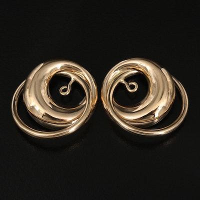 14K Interlocking Circles Earring Enhancers