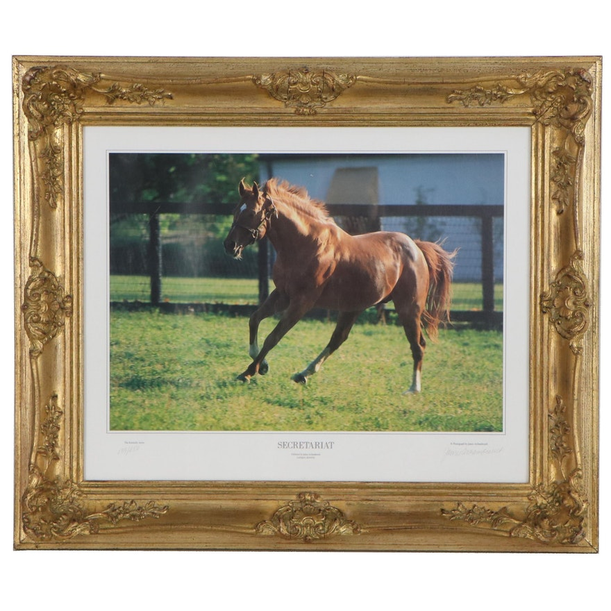 "James Archambeault Offset Lithograph ""Secretariat,"" Late 20th Century"