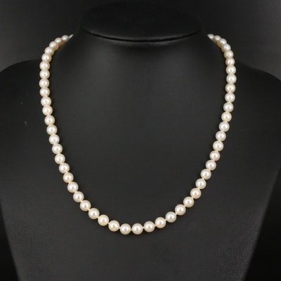 Vintage Mikimoto Pearl Necklace