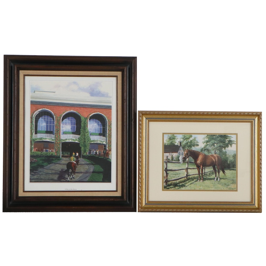 Offset Lithographs after Nick Martinez of Equestrian Scenes, Late 20th Century