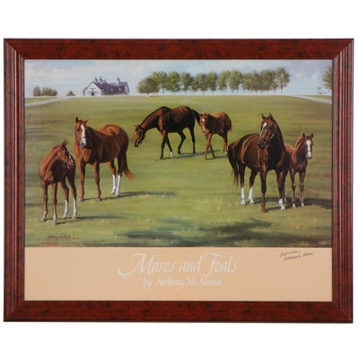 "Anthony M. Alonso Offset Lithograph ""Mares and Foals"""