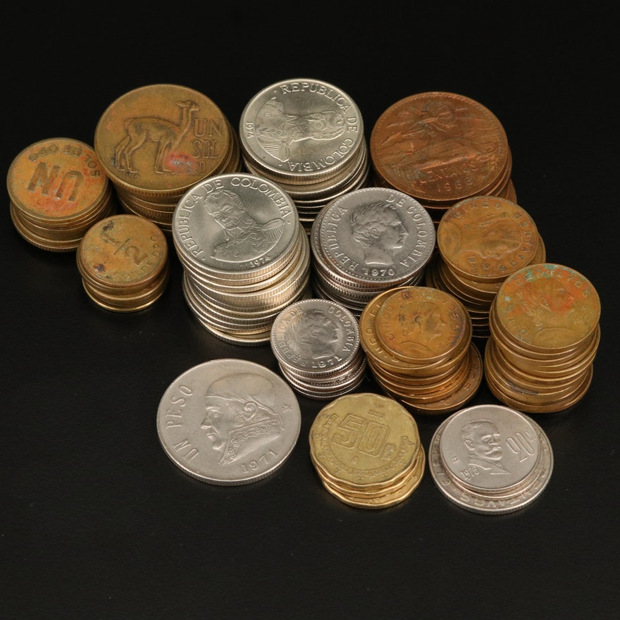Latin American Coin Collection, Mid-20th Century