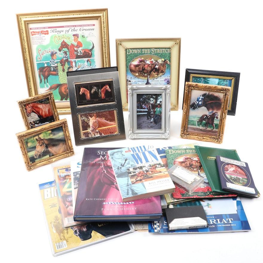 Secretariat Collection, Turcotte Signed Book, Prints, Album, Tapes, Books, More