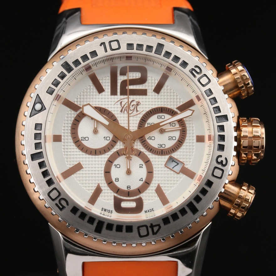 Yagi Stainless Steel Chronograph Wristwatch