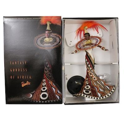 "Bob Mackie for Mattel ""Fantasy Goddess of Africa"" Barbie Doll with Box"