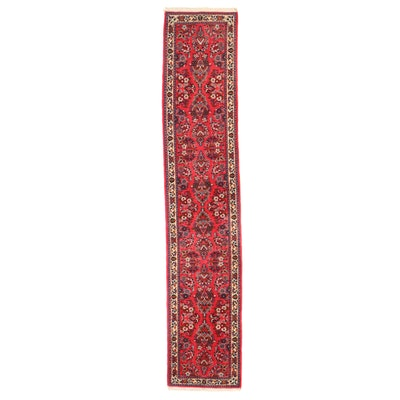 2'8 x 13'11 Hand-Knotted Persian Sarouk Wool Carpet Runner