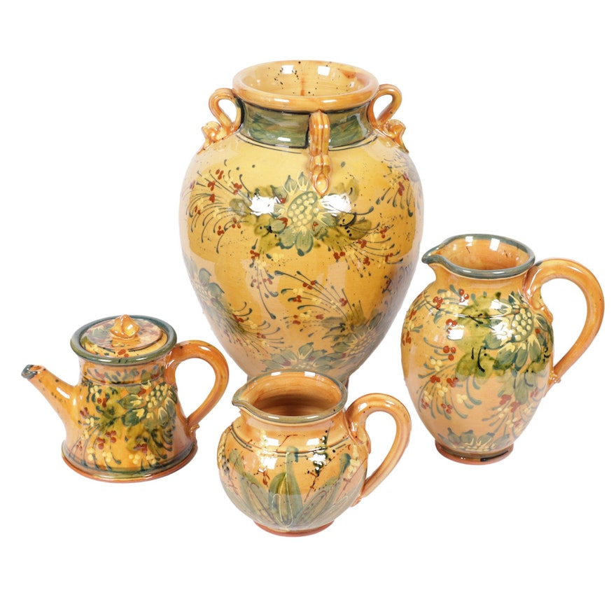 Sud & Co. Cassis en Provence Hand-Painted Terracotta Vessels
