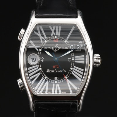 "Ulysse Nardin ""Michelangelo"" UTC Dual Time Stainless Steel Automatic Wristwatch"