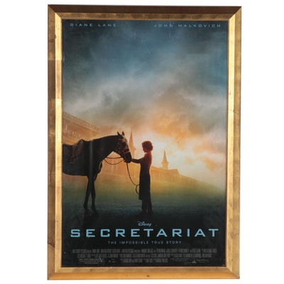 "Offset Lithograph Move Poster of Disney's ""Secretariat,"" 21st Century"