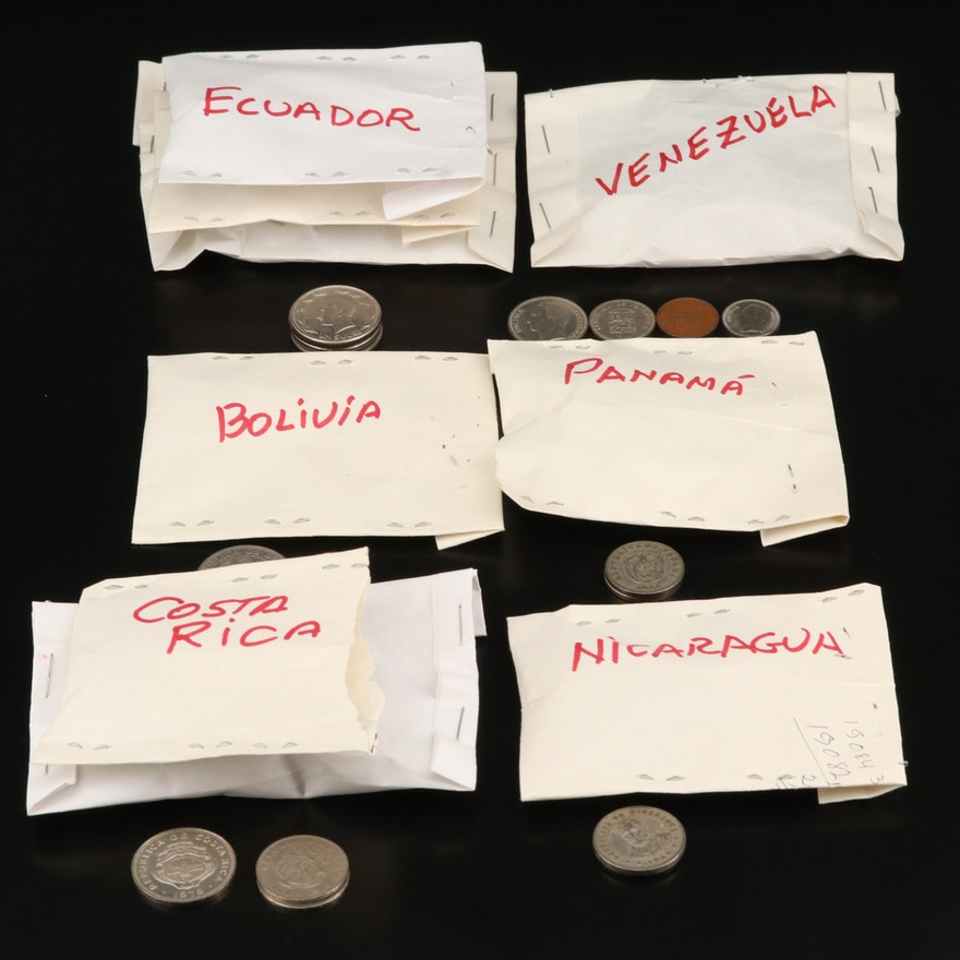 Central American and South American Coin Collection, Mid to Late 20th Century