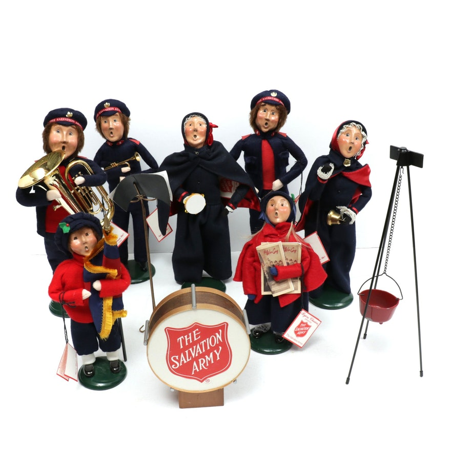 Byers' Choice Handcrafted Salvation Army Christmas Caroler Figurines, 1990s