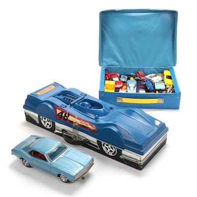 Matchbox, Hot Wheels, and More Diecast Vehicles and Carrying Cases, 1970s-1980s