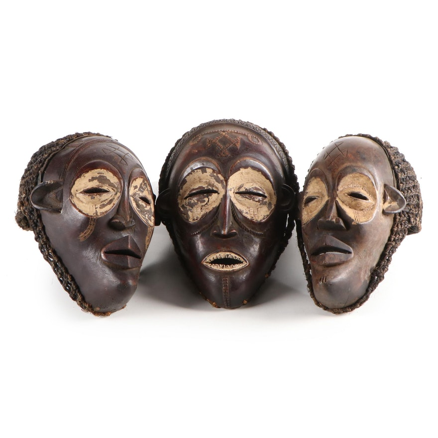 Chokwe Style Wood Masks, Central Africa
