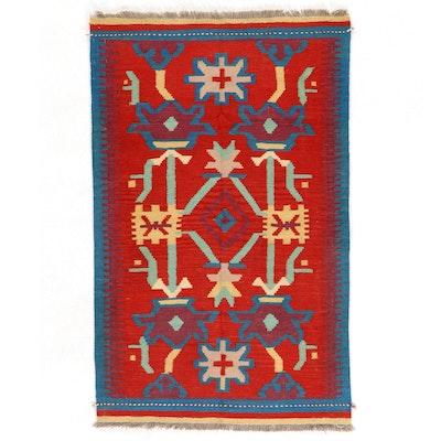 3'2 x 5'2 Handwoven Afghan Kilim Wool Area Rug