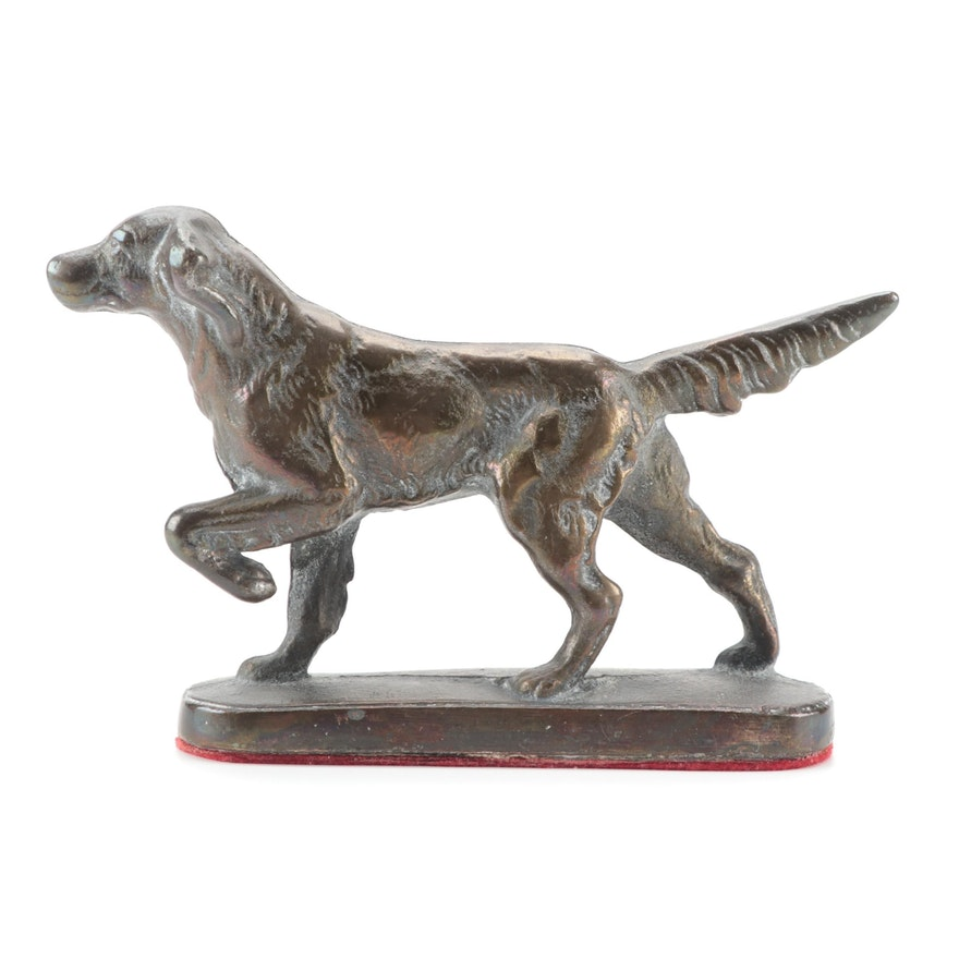 Cast Iron Sporting Dog Figurine, 20th Century