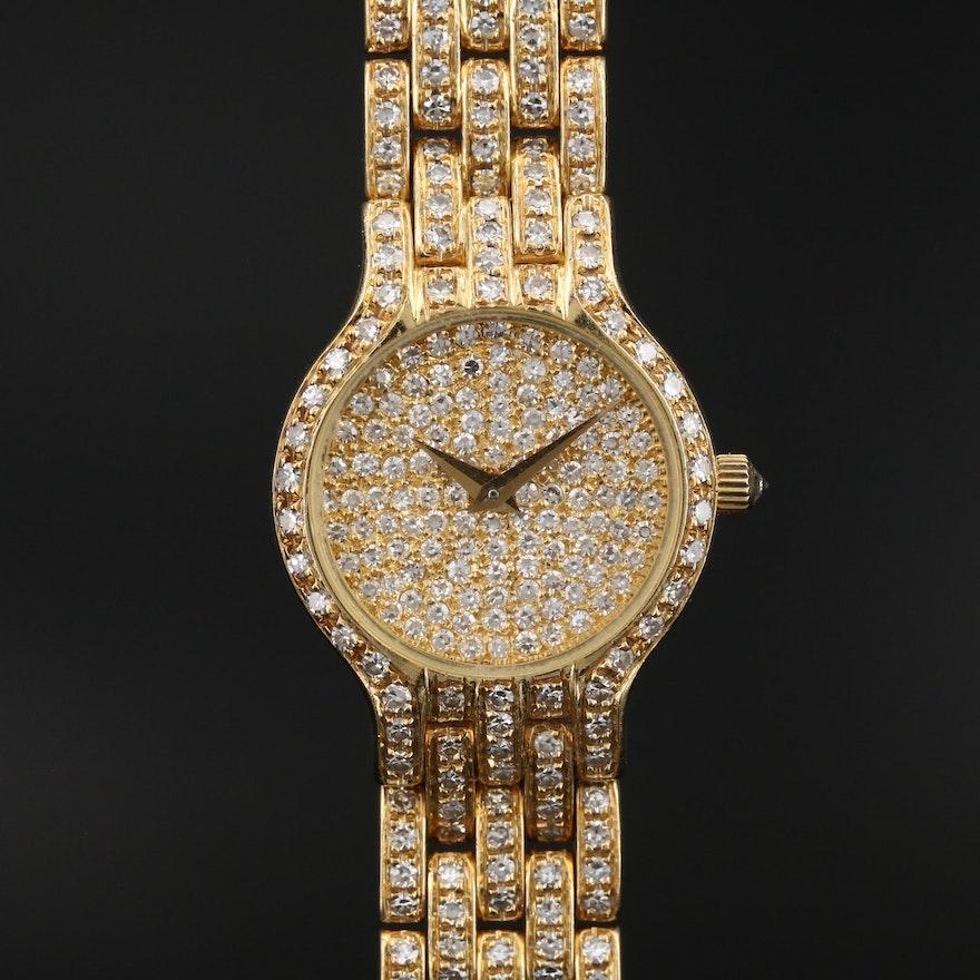 """Concord """"Le Palais"""" 18K Yellow Gold 5.12 CTW Diamond Wristwatch"""