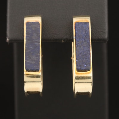 14K Lapis Lazuli Clip Earrings