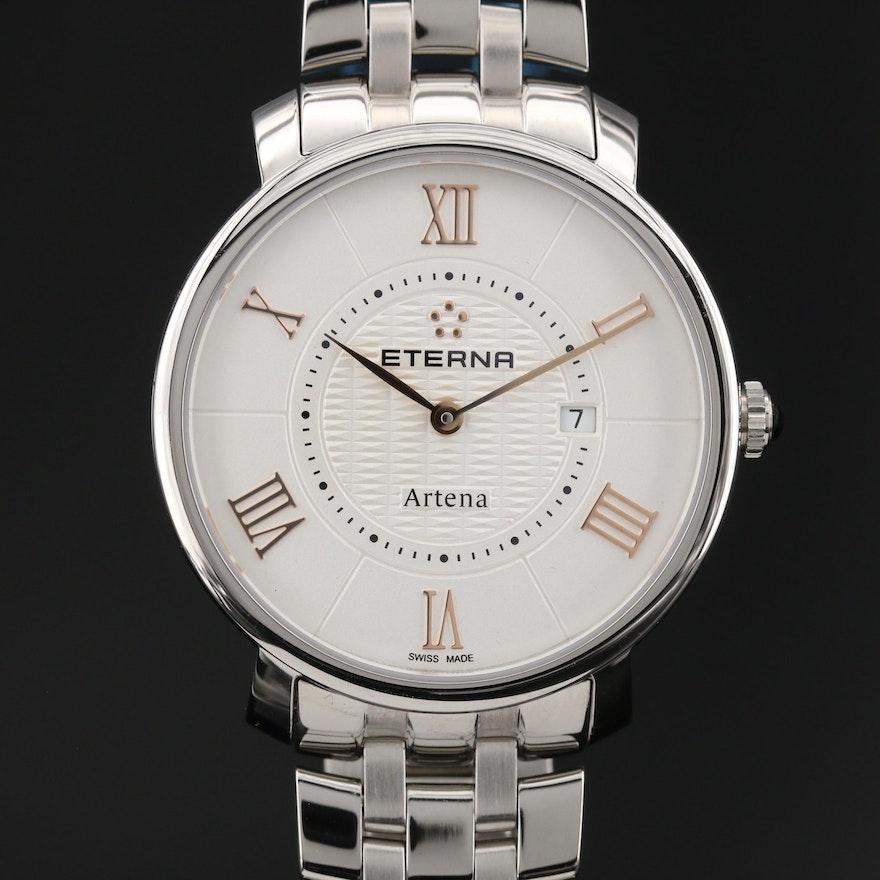 "Eterna ""Artena"" Stainless Steel Quartz Wristwatch"