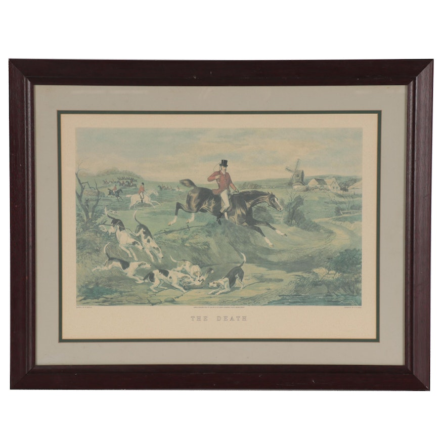 """C.R. Stock Offset Lithograph after W. Shayer """"The Death,"""" Late 20th Century"""