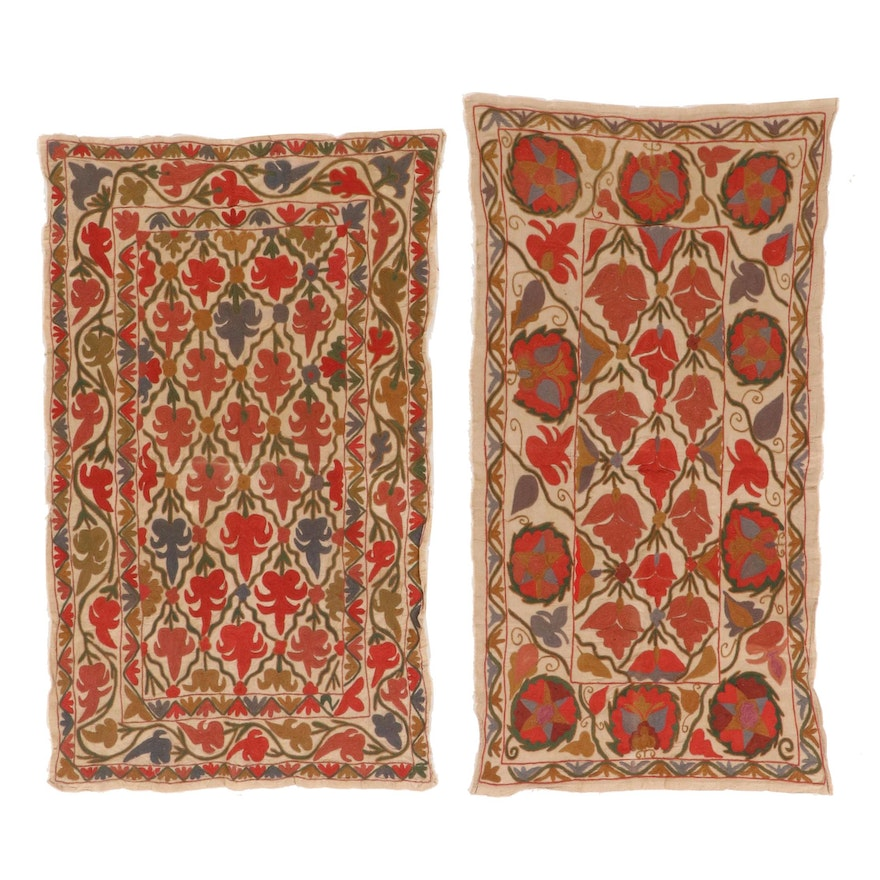 Handmade Central Asian Chain Stitch Embroidered Textile Panels
