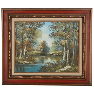Landscape Oil Painting, Late 20th Century