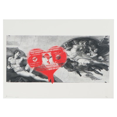 "Death NYC Graphic Print ""Creation Heart Red,"" 2017"
