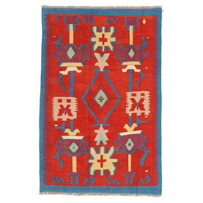 3'10 x 6'1 Handwoven Afghan Kilim Area Rug