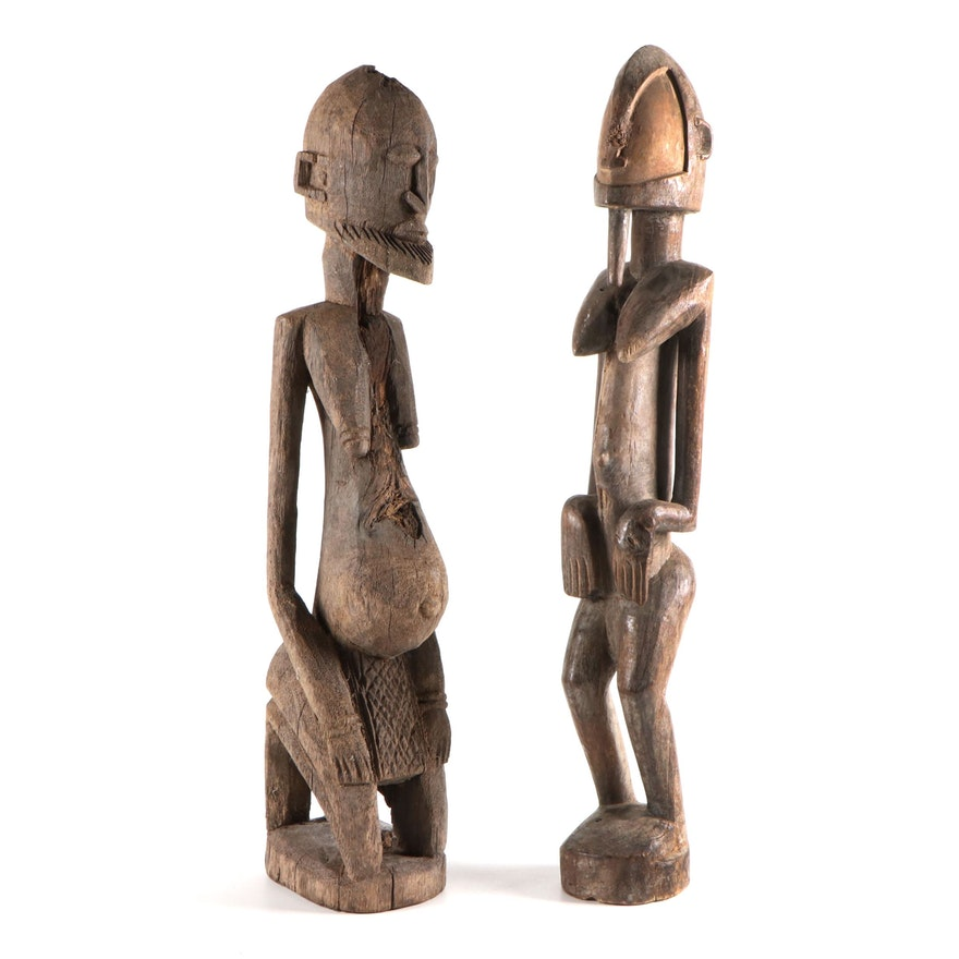 Dogon Style Handcrafted Wood Figures, Mali