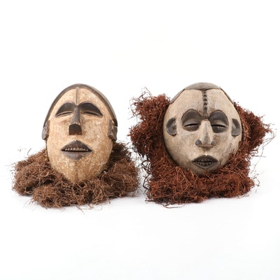 Igbo Inspired Handcrafted Wood Masks, West Africa