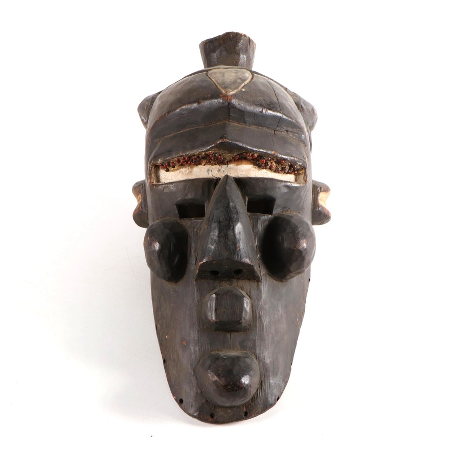 Binji Style Handcrafted Wood Mask, Central Africa