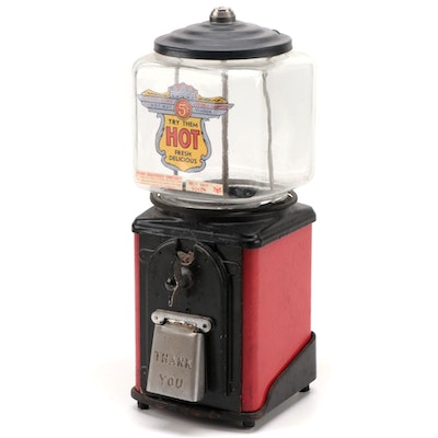 Silver King Coin Operated Peanut Dispenser, 1940s