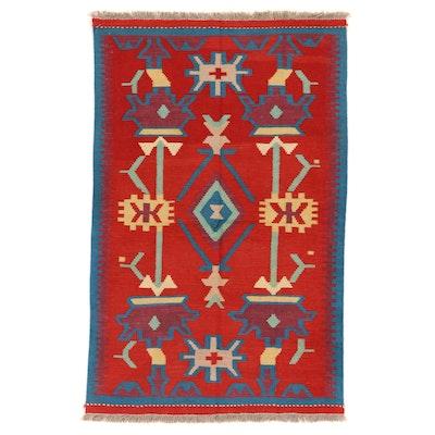 3'3 x 5'2 Handwoven Afghan Kilim Area Rug