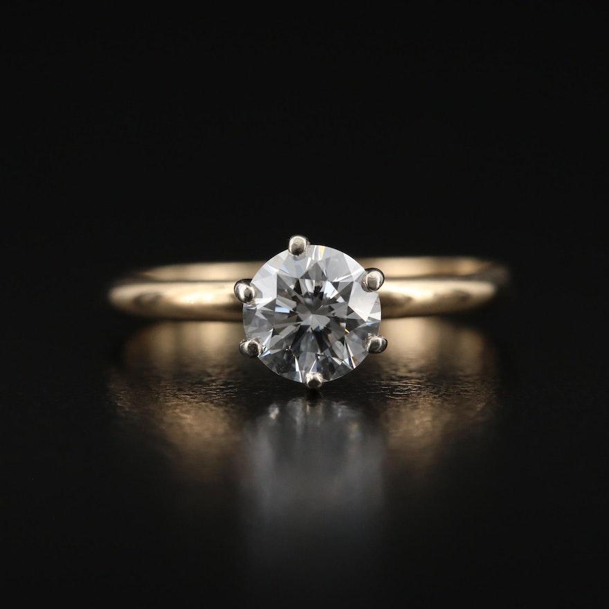 14K 0.68 CT Diamond Solitaire Ring
