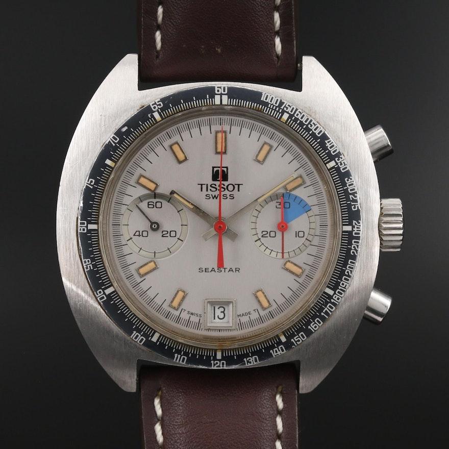 "Vintage Tissot ""Seastar Navigator"" Stainless Steel Stem Wind Wristwatch"