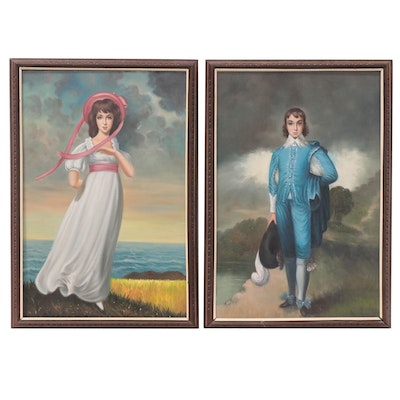 Oil Portraits after Thomas Lawrence and Thomas Gainsborough