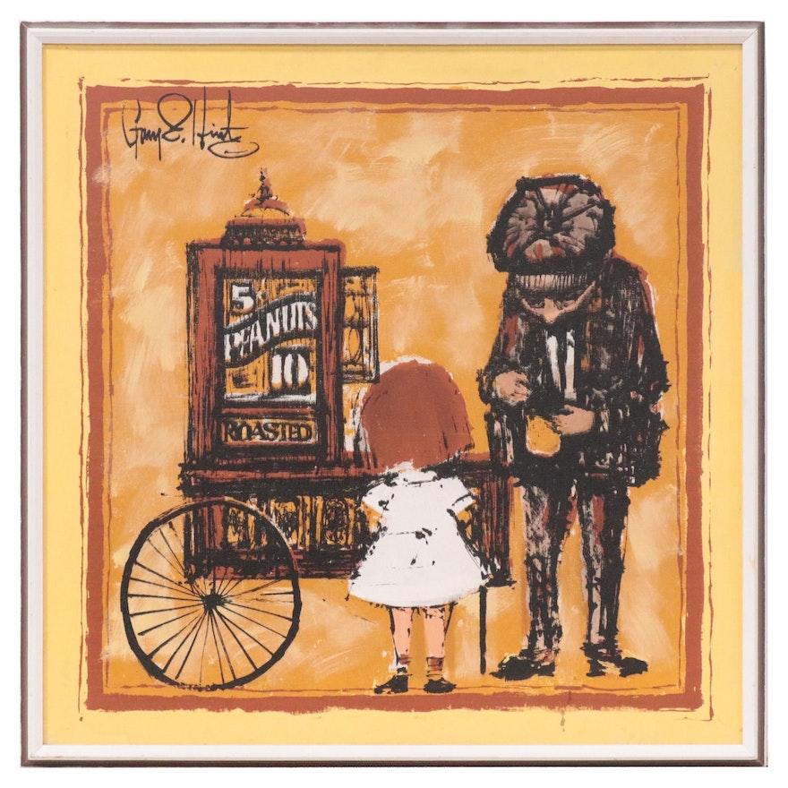 "Gary Hinte Serigraph ""The Peanut Vendor,"" Late 20th Century"