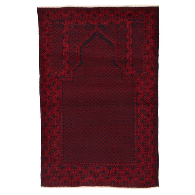 3'1 x 4'8 Hand-Knotted Afghan Baluch Wool Prayer Rug