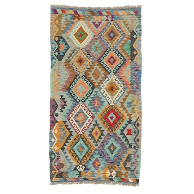 3'4 x 6'6 Handwoven Turkish Village Kilim Rug, 2010s