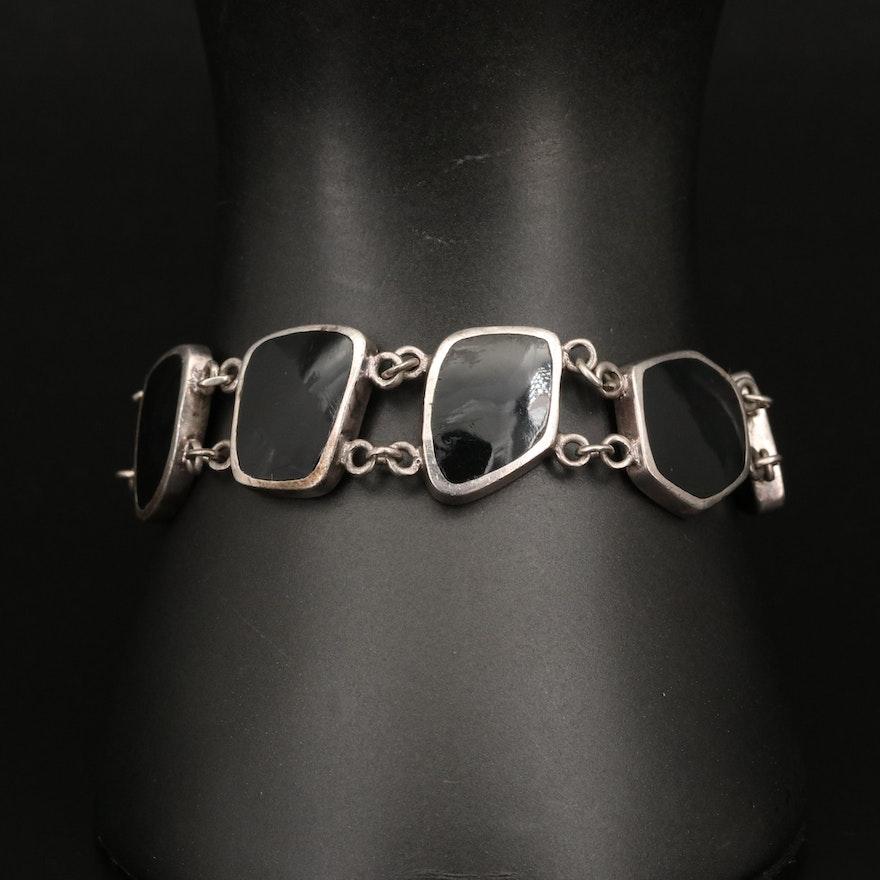 Sterling Enamel Link Bracelet