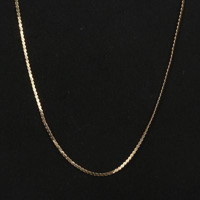 14K Serpentine Link Necklace