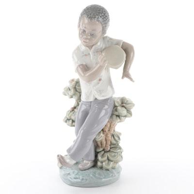 """Lladró """"Bongo Beat"""" Porcelain Figurine Designed by José Roig"""