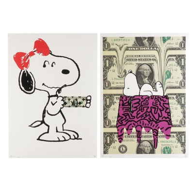 Death NYC Pop Art Graphic Prints Featuring Snoopy, 2020