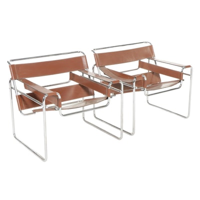 """Marcel Breuer Gavina for Knoll """"Wassily"""" Lounge Chairs, 1968-1969"""