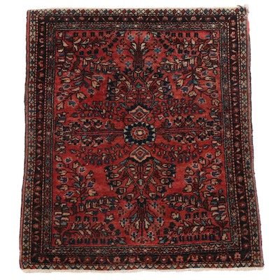 1'10 x 2'4 Hand-Knotted Persian Soumak Wool Accent Rug